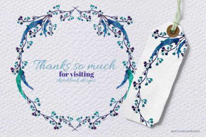 Australian Watercolour Wreaths Clipart
