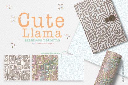Llama Seamless Pattern Set