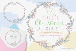 Aussie Christmas Wreath Set