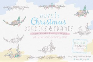 Aussie Christmas Borders & Frames Clipart Set