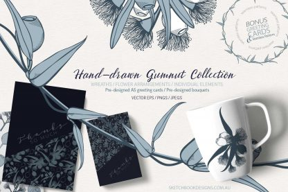 Hand Drawn Gumnut Digital Collection