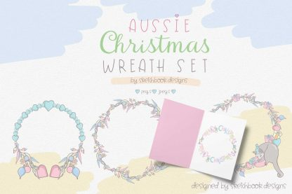 Aussie Christmas Wreath Set