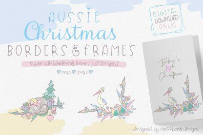 Aussie Christmas Borders & Frames Set