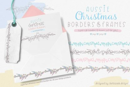 Aussie Christmas Borders Clipart