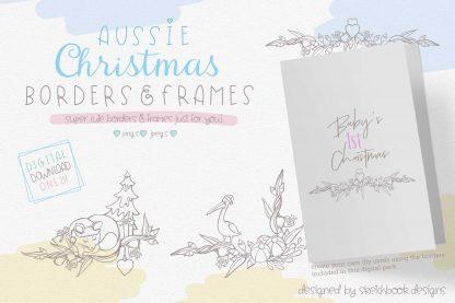 Aussie Christmas Borders & Frames Clipart Set
