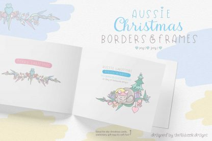 Aussie Christmas Borders & Frames Clipart Ideas
