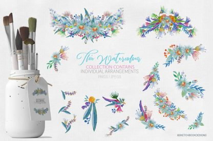 Springtime Watercolour Clipart Set