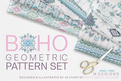 Boho Geometric Digital Pattern