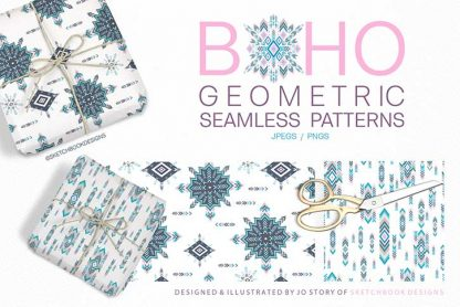 Boho Geometric Digital Patterns
