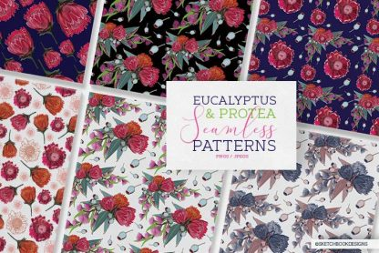 Eucalyptus & Protea Digital Set