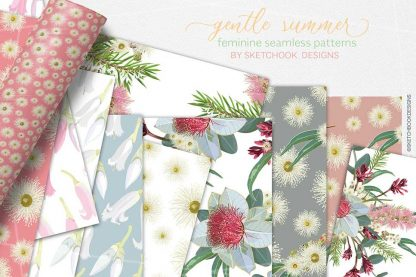 Gentle summer Australian wildflower Digital Pattern Display