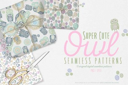 Cute Owl digital patterns