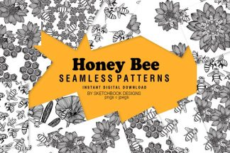 Honey Bee Digital Patterns