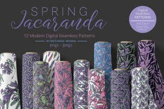 Jacaranda Spring Digital Patterns