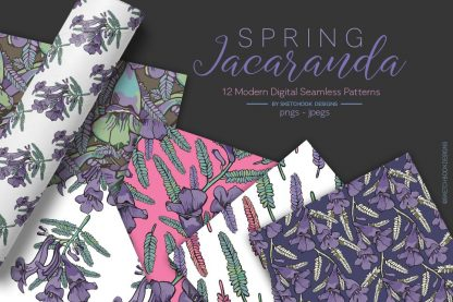 Spring Jacaranda Patterns