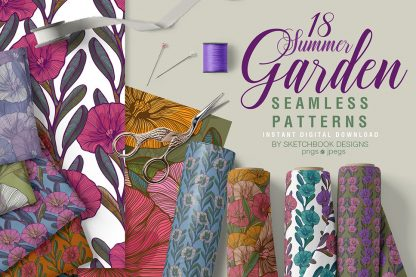 Summer Garden Digital Patterns