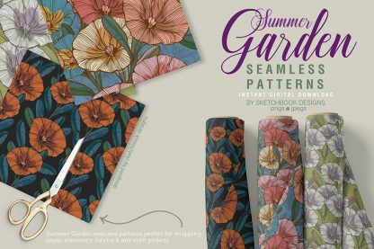 Summer Garden Digital Pattern Set