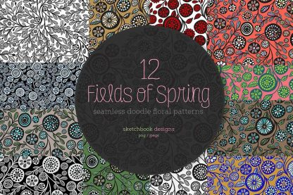 12 Fields of Spring Pattern Set