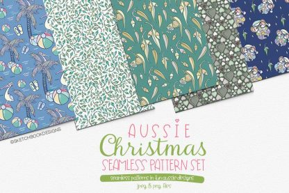 Aussie Seamless Christmas Patterns