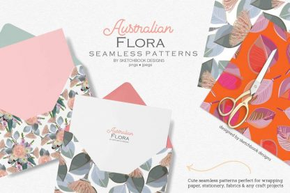 Australian Florals Pattern Instant Download